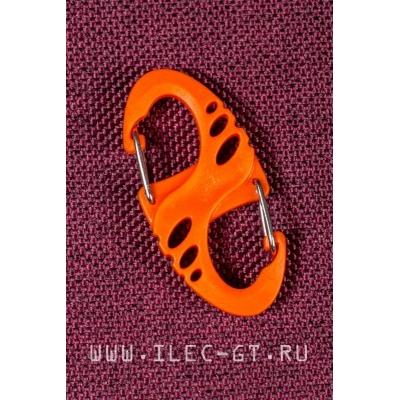 Оранжевый двухсторонний карабин