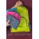 Розовый Складной облегченный рюкзак