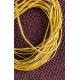 Желтый синтетический шнур, плетеная косичка 5 метров