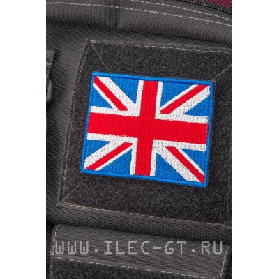 Нашивка на липучке, флаг Великобритании 5,4х7,3 см.