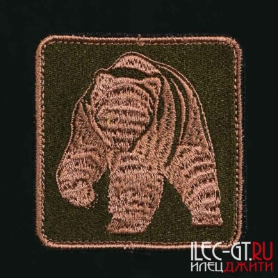 Нашивка на одежду с русским медведем
