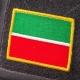 Нашивка на липучке, флаг Татарстана 5,3х7,3 см.