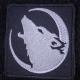 Нашивка с воющим волком на полную луну