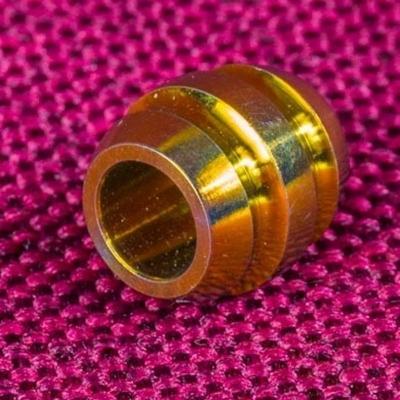 Золотистая Титановая бусина