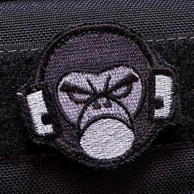 Нашивка на липучке MSM Monkey Head, milspec monkey голова обезьяны