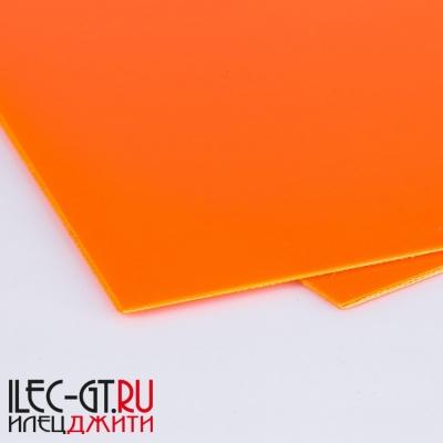 Плашка G10 250х130х1 мм. , оранжевый материал для рукояти