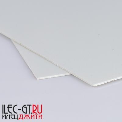 Плашка G10 белого цвета, 250х130х1 мм. Материал для ручки ножа