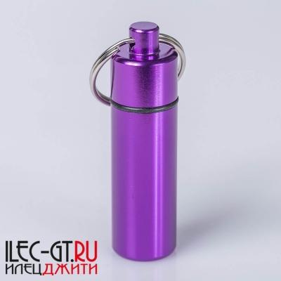 Герметичная алюминиевая капсула фиолетового цвета