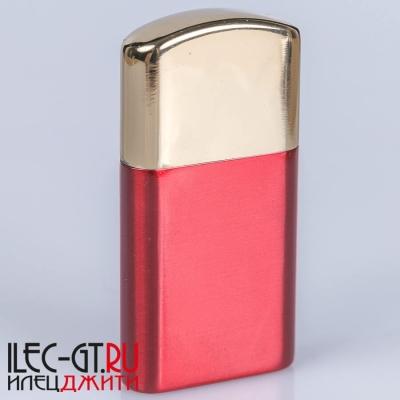 Красная бензиновая зажигалка Dolphin двойной чиркаш