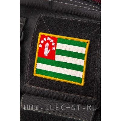 Нашивка на липучке, флаг Абхазии 5,3х7,2 см.