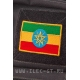 Нашивка на липучке, флаг Эфиопии 5х7,4 см.