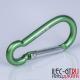 Зеленый алюминиевый карабин для ключей и мультитулов