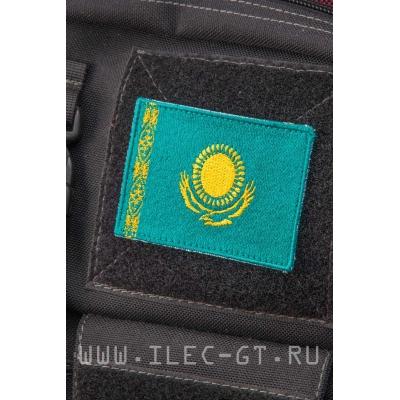 Нашивка на липучке, флаг Казахстана 5,2х7,3 см.