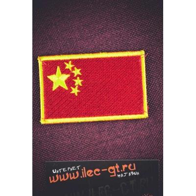 Липучка, шеврон, нашивка флаг Китая (КНР)