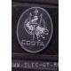 Нашивка на липучке CHRIS COSTA, черная 9,5 см