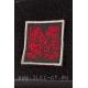 Mick Strider Custom квадратная нашивка 5 см красная