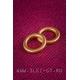 Латунное кольцо для кожи