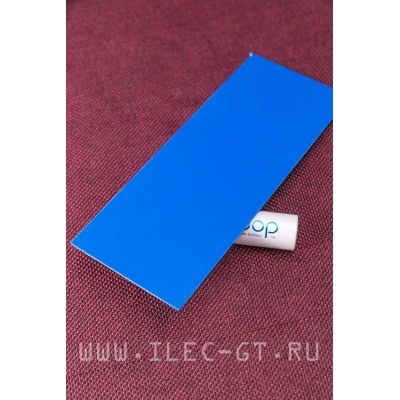 G10 тонкий, синий 130х40х1 мм