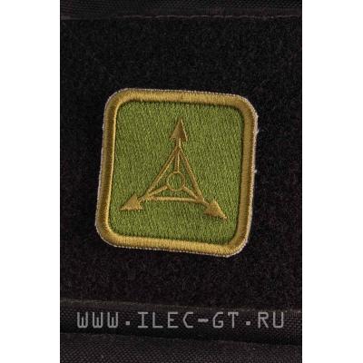 Зеленая квадратная нашивка TAD GEAR 5 см