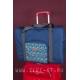 Синяя складная туристическая сумка