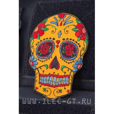 Нашивка сахарный череп в цветах