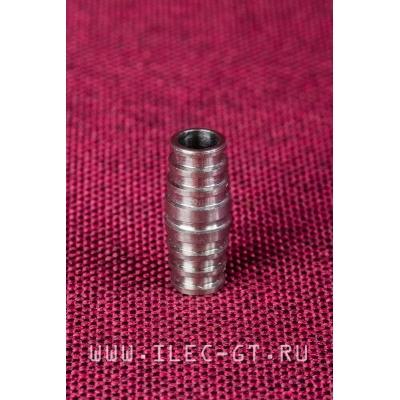 Длинная титановая бусина (24х10 мм.)