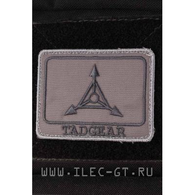 Нашивка на липучке TAD GEAR. Серый 8х6